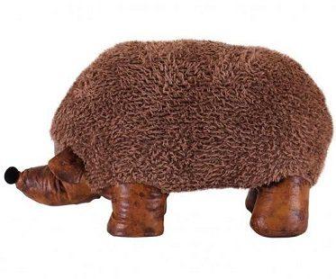 hedgehog ottoman faux leather side