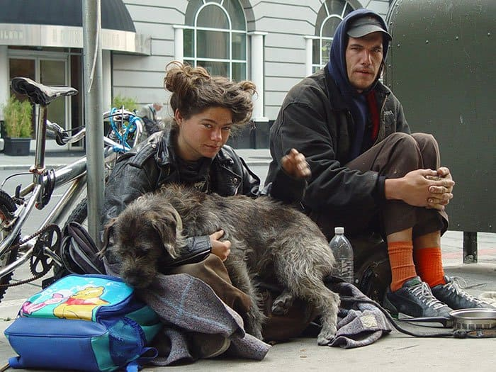 homeless-dogs-unconditional-love-couple