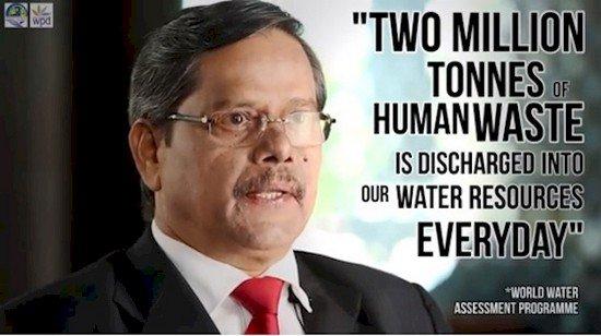 Sebanyak 2 juta ton kotoran manusia dibuang ke sumber air kita setiap harinya.