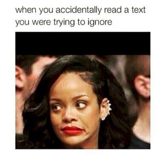 ignore text
