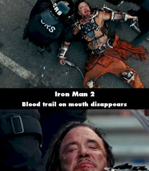 iron man 2 mistake