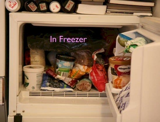 jeans in freezer
