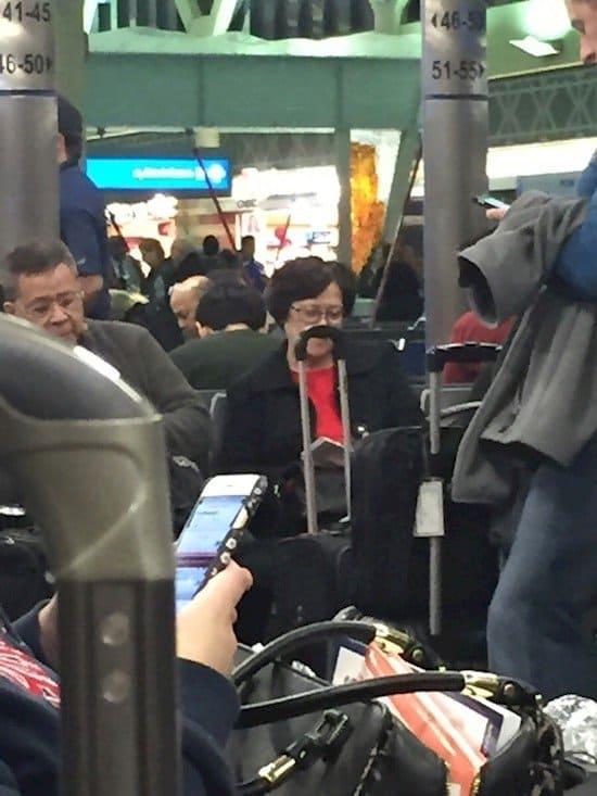 lady case mustache