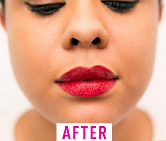 lipstick after
