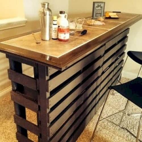 Man Cave Bar Out Of Pallets : Awesome man cave decor ideas you should know