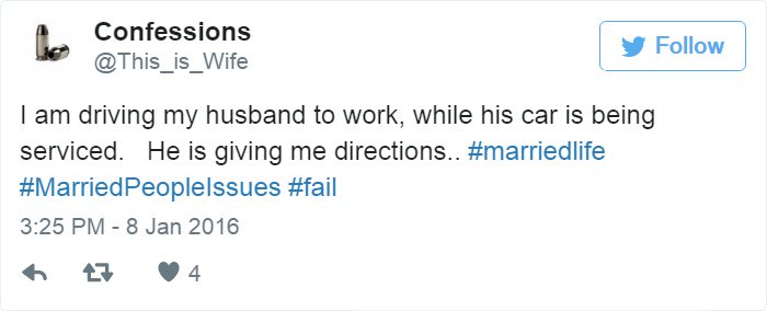 married-tweets-driving