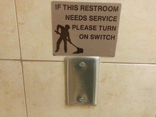no switch restroom