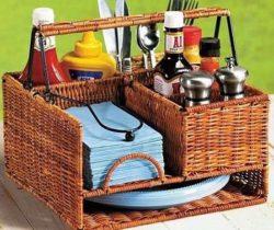 picnic basket organizer