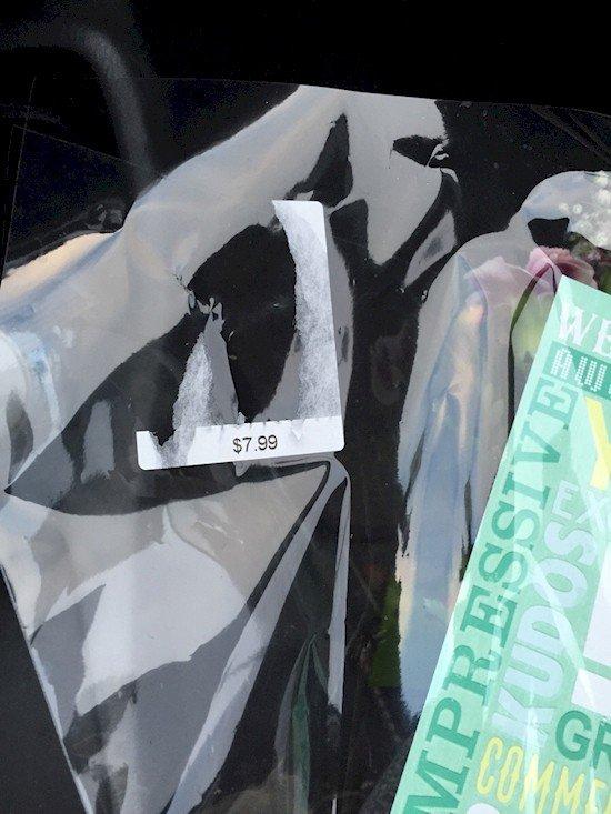 price tag residue