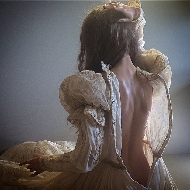 realistic-doll-faces-polymer-clay-michael-zajkov-dress