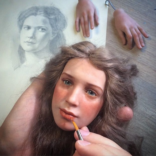 realistic-doll-faces-polymer-clay-michael-zajkov-lips