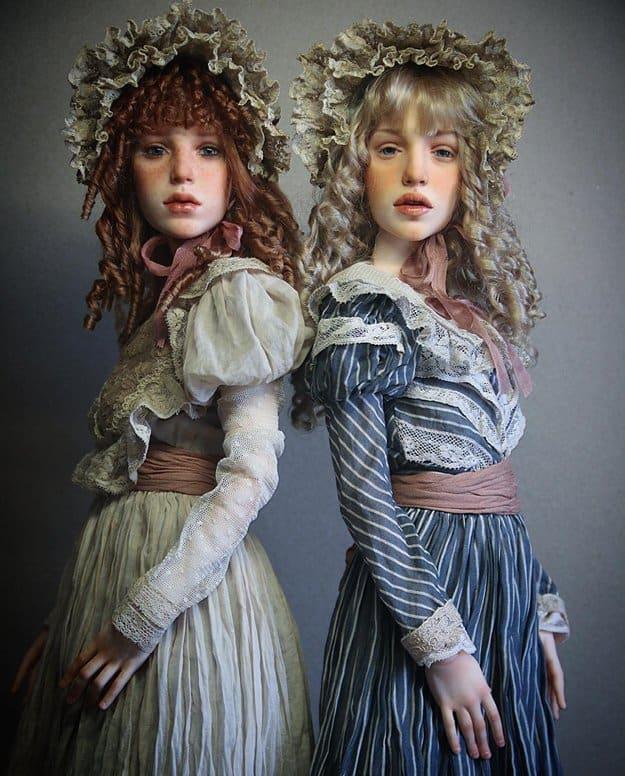 realistic-doll-faces-polymer-clay-michael-zajkov-pair
