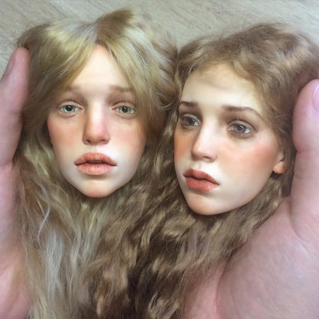 realistic-doll-faces-polymer-clay-michael-zajkov-twins
