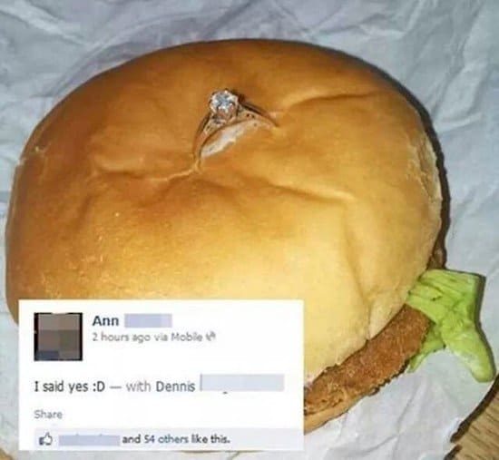 ring in burger proposal