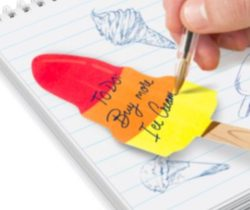 rocket lolly sticky notes
