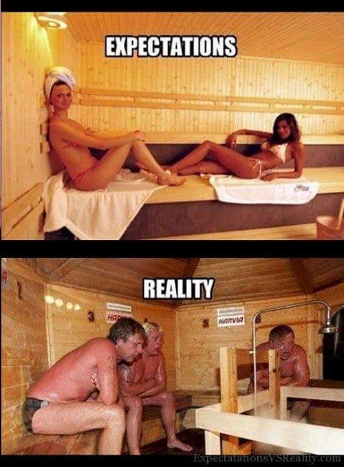 sauna expectations reality