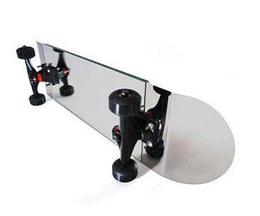skateboard mirror silver