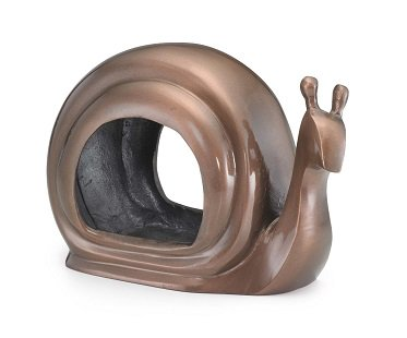 snail bird feeder bronze