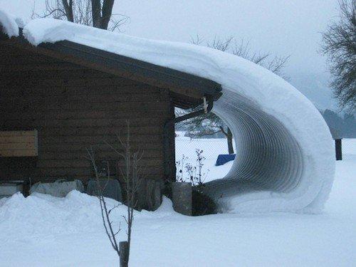 snow shape building