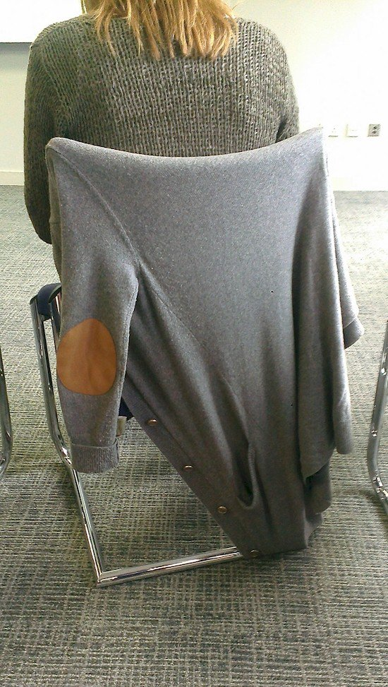 stretched out sweater