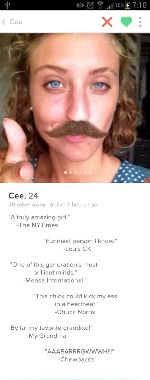 13 Girls Tinder Profiles That Are Hilariously Crude Or