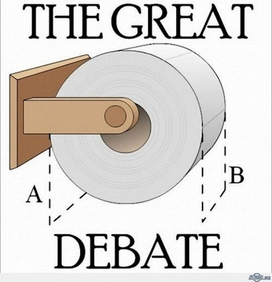 toilet roll debate