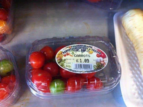 tomatoes carrots
