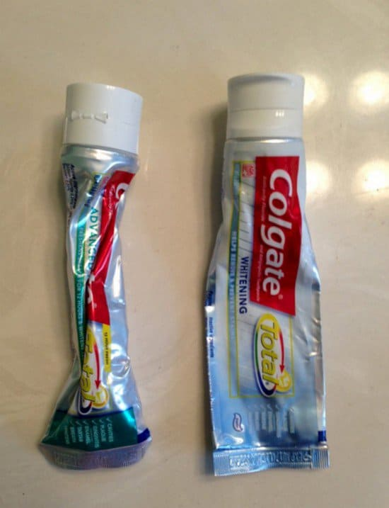 toothpaste tubes