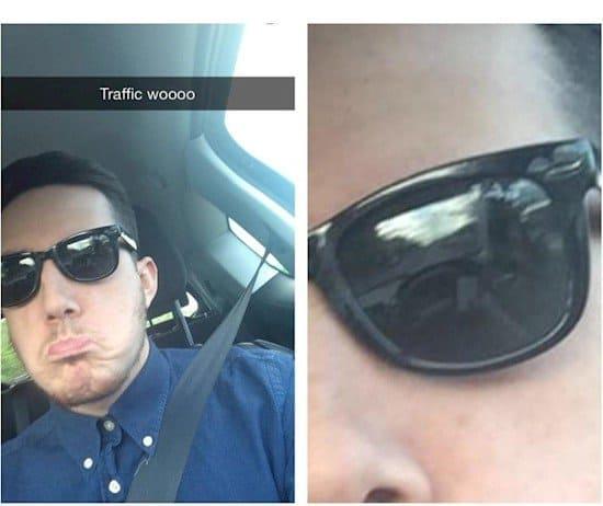 traffic selfie