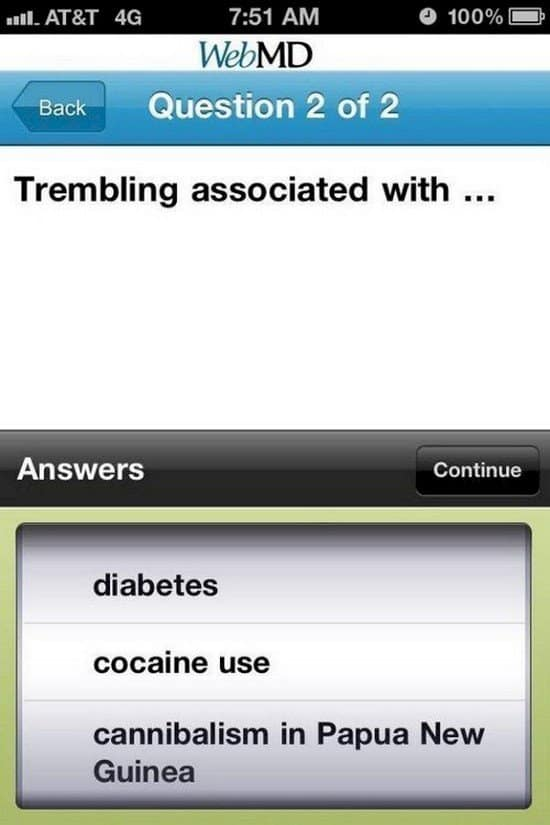 trembling associated with