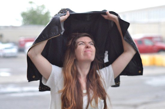 woman jacket rain