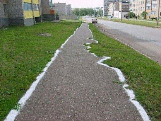wonky path
