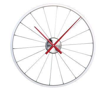Bicycle Rim Wall Clock time