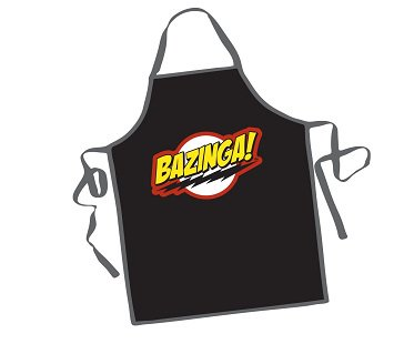 Big Bang Theory Bazinga Apron black