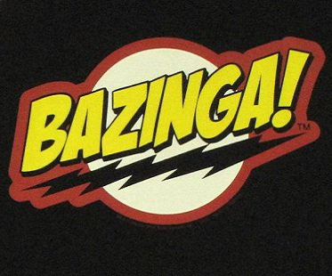 Big Bang Theory Bazinga Apron logo