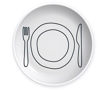 Bite Sized Appetizer Plates set