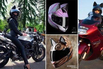 Cat's Head Shaped Neko Helmets