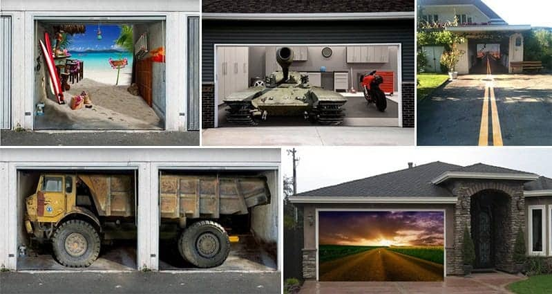14 Creative Garage Doors To Make Your House Look Awesome