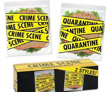 Crime Scene Sandwich Bags quarantine