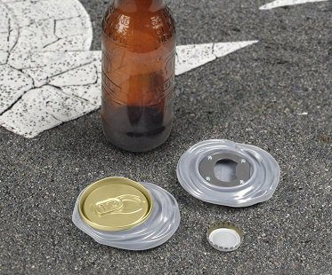 Crushed Can Bottle Opener