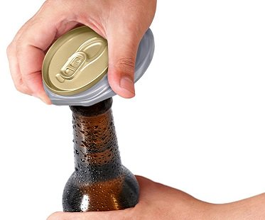 Crushed Can Bottle Opener beer
