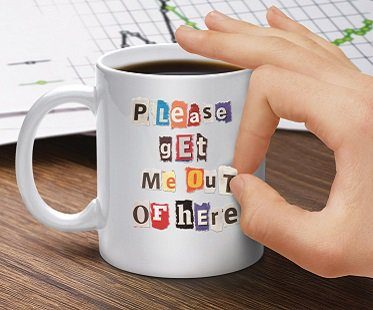 DIY Ransom Note Mug