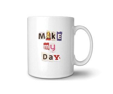 DIY Ransom Note Mug cup