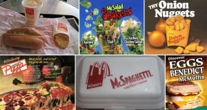 Discontinued 'McDonald's' Items