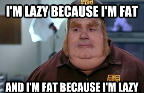 im lazy because im fat and im fat because im lazy