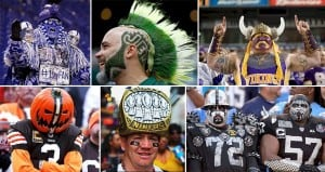 Football Fans Dressing Up Extreme