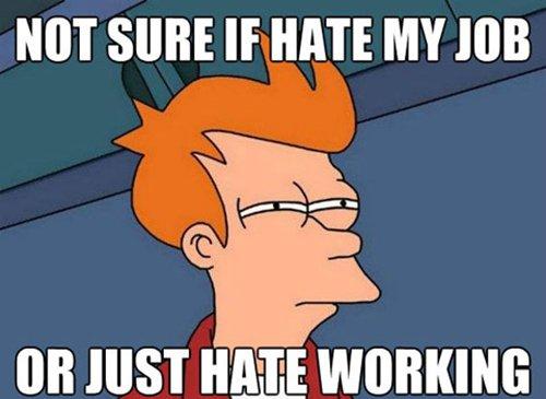 Hate Working Hate Job