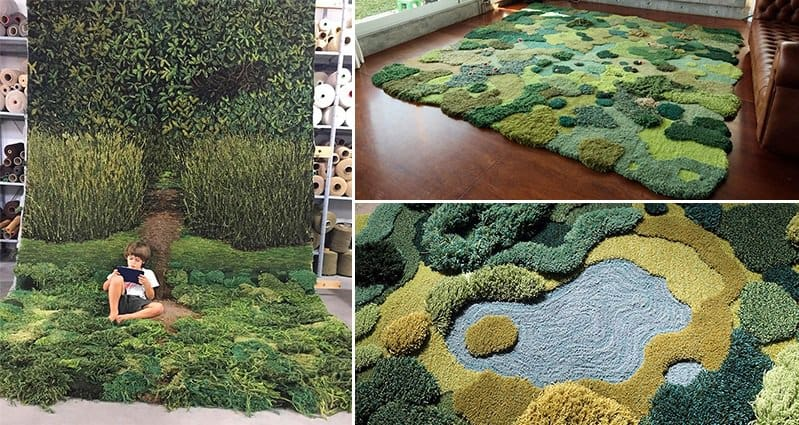 Bring A Part Of The Outdoors Into Your Home With These Crazy Moss Like Rugs