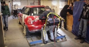 Jason Hobson Lifts 2,500-Pound Car Exoskeleton