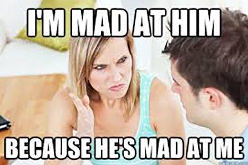 Mad At Him Mad At Me